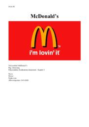 McDonald's | Afsætning aflevering