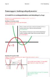 Andengradspolynomier | Emneopgave | Matematik