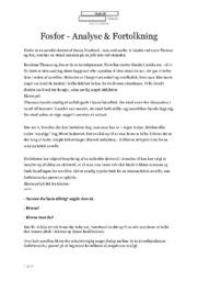 Fosfor | Analyse & Fortolkning | Simon Fruelund