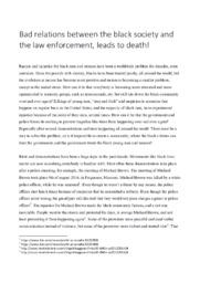 Police shootings | Bad relations between the black…