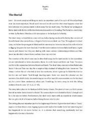 The Burial | Essay
