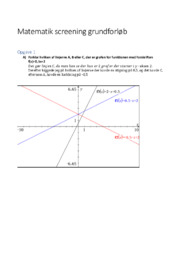 Matematik screening grundforløb