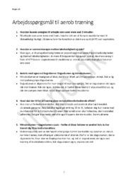 Aerob Træning   Arbejdsspørgsmål Idræt