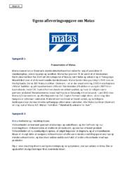 Matas | Virksomhedsøkonomi Opgave