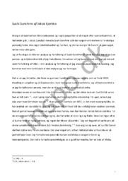 Sushi Sunshine analyse | Litterær analyse | Jakob Ejersbo