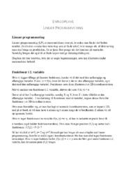 Emneopgave   lineær programmering
