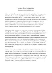 Analyse   En personlig mission   Dokumentarens sandhedsværdi