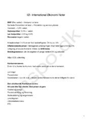 Generelle noter til International Økonomi A | Noter