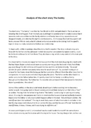 Analysis of the short story The Sentry