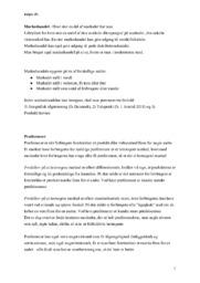 Markedsandel & Præferencer | Afsætning noter