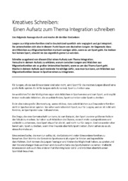 Einen Aufsatz zum Thema Integration schreiben