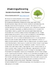Handelsvirksomheden – Den Grønne   Afsætning