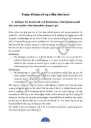 Tema: Danske velfærdsstatsmodel
