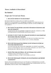 Thema: Ausländer in Deutschland