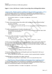 Leine, Leth, Romer | Analyse & Sammenligning