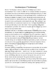 """Novelleanalyse af """"Familiebesøg"""" af Katrine Marie Guldager"""