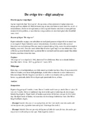 De evige tre – digt analyse