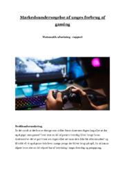 Markedsundersøgelse af unges forbrug af gaming