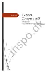Tygesen Company A/S Erhvervscase