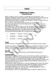 Ophedning af natron | Mængdeberegninger