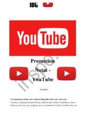 Promotion Notat – YouTube | Afsætning