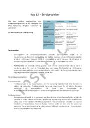 Kapitel 12 – Serviceydelser   Noter i afsætning