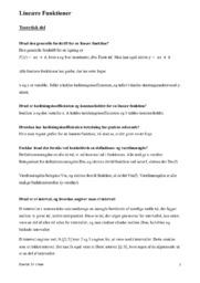 Lineære Funktioner | Matematik