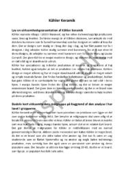 Virksomhedsanalyse   Kähler Keramik Afsætning