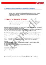 Emneopgave i Binomial- og normalfordelinger
