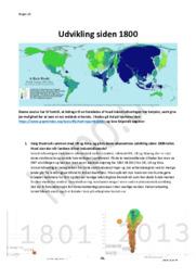 Udvikling siden 1800 | Historie Noter