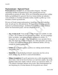 Psykologiske Retninger | Psykologi Noter