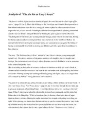 The-sin-bin or Lucys heart | Engelsk opgave