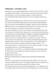 Filmanalyse | Good Bye Lenin
