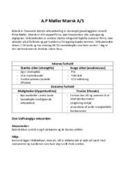 A.P Møller Mærsk Noter | Afsætning
