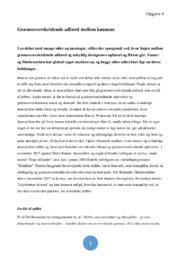 Grænseoverskridende adfærd mellem kønnene   Analyse