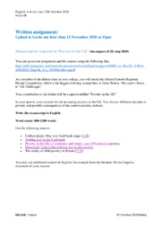 Poverty in the UK | Speech | 20. maj 2020 eksamen engelsk