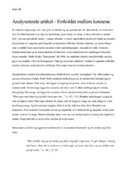 Forholdet mellem kønnene | Analyserende artikel