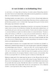 Analyse af frøkenen | 12 i karakter