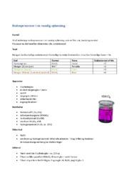 Redoxprocesser i en vandig opløsning