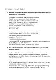 Emneopgave Deskriptiv Statistik | 10 i karaker