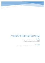 Virksomhedsøkonomi | Prøve dec. 2020
