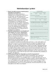 Markedsanalyse i praksis | Afsætning opgave