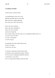 A House Divided & my own poem | Engelsk Analyse