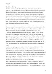 One Friday Morning | Analyse | Langston Hughes