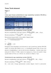 Norsk økonomi | Opgave | International økonomi | 12 i karakter