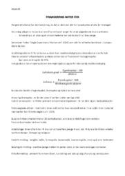 Finansierings noter hhx | International Økonomi