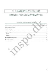 2. Gradspolynomier   Emneopgave matematik