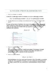 Lineær programmering   Matematik   Emneopgave