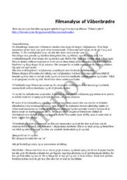 Filmanalyse af Våbenbrødre | Analyse i dansk