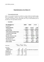 Regnskabsanalyse af en Matas AS | VØ Opgave